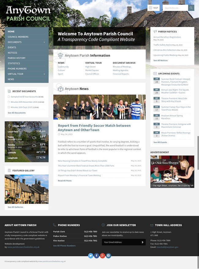 Parish Council Web Design Example