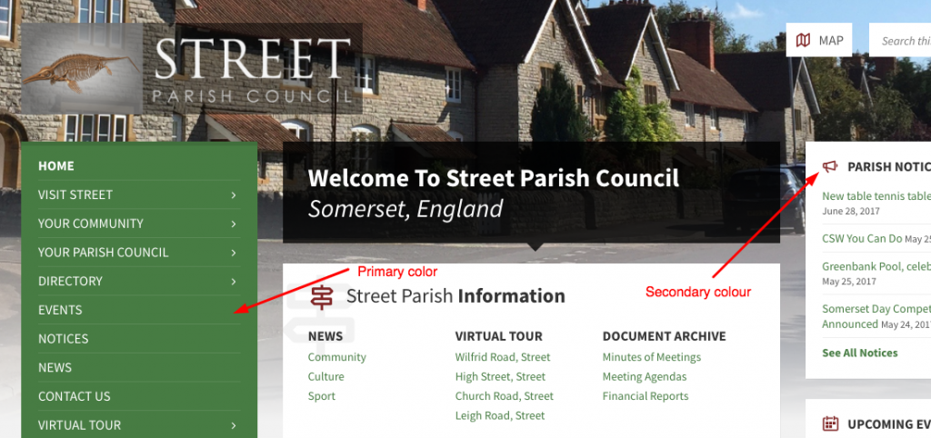 websites for parish councils