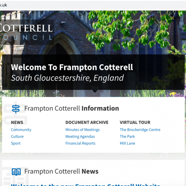 Frampton Cotterell Parish Council choose NetWise UK as their website provider