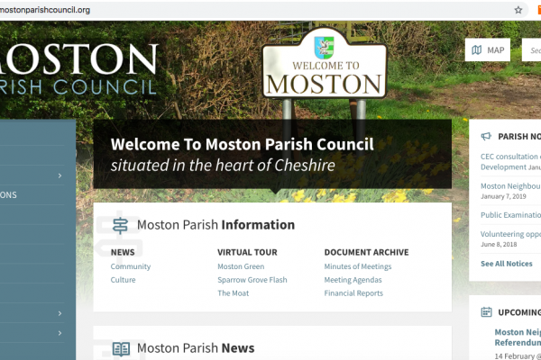 Moston Parish Council Website