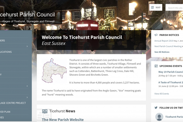 Ticehurst Parish Council Website Design