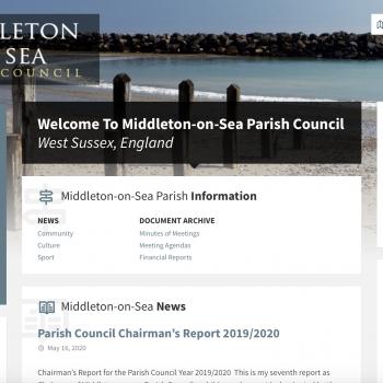 Middleton On Sea Parish Council website