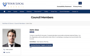 add a council member to website