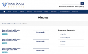 upload council documents to website