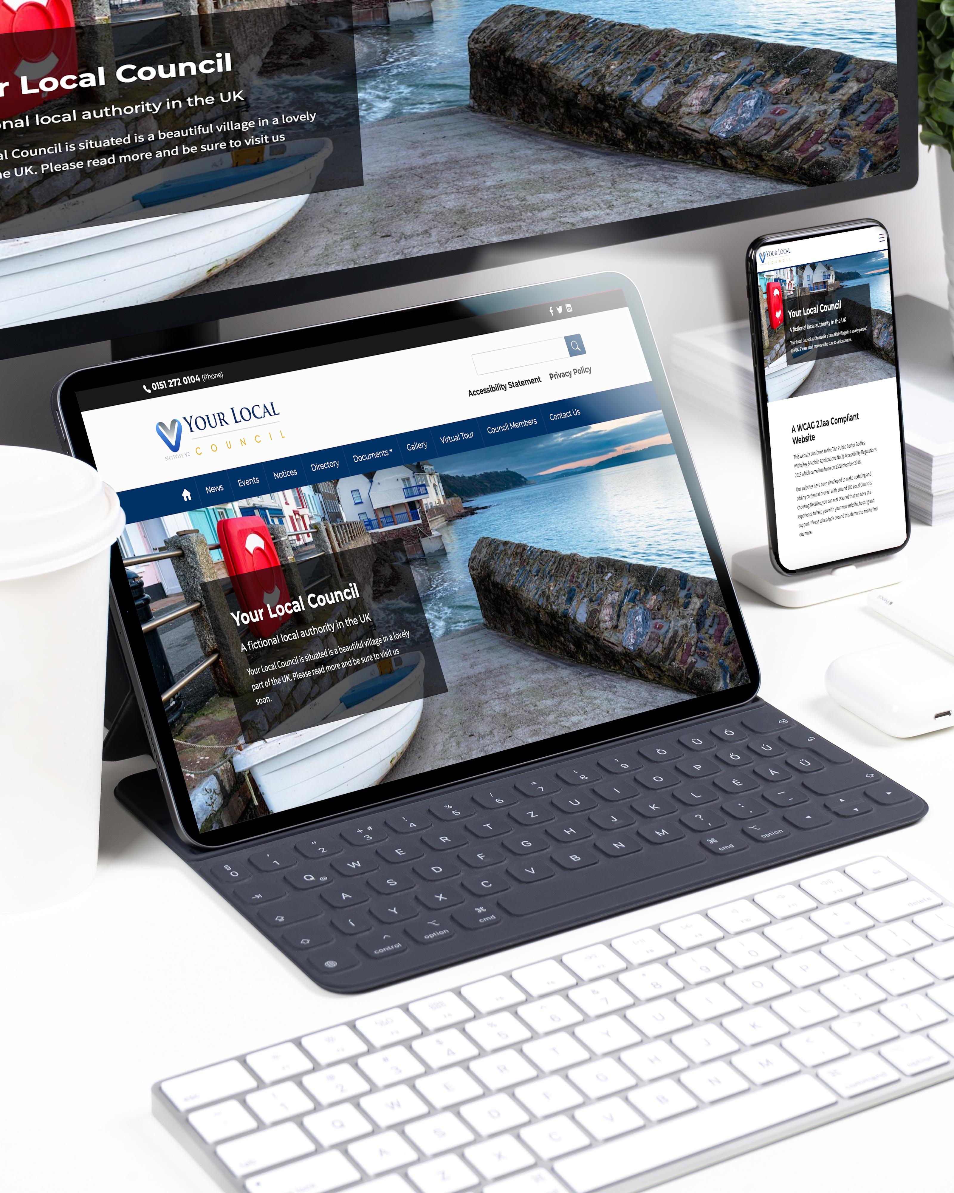 Responsive council website