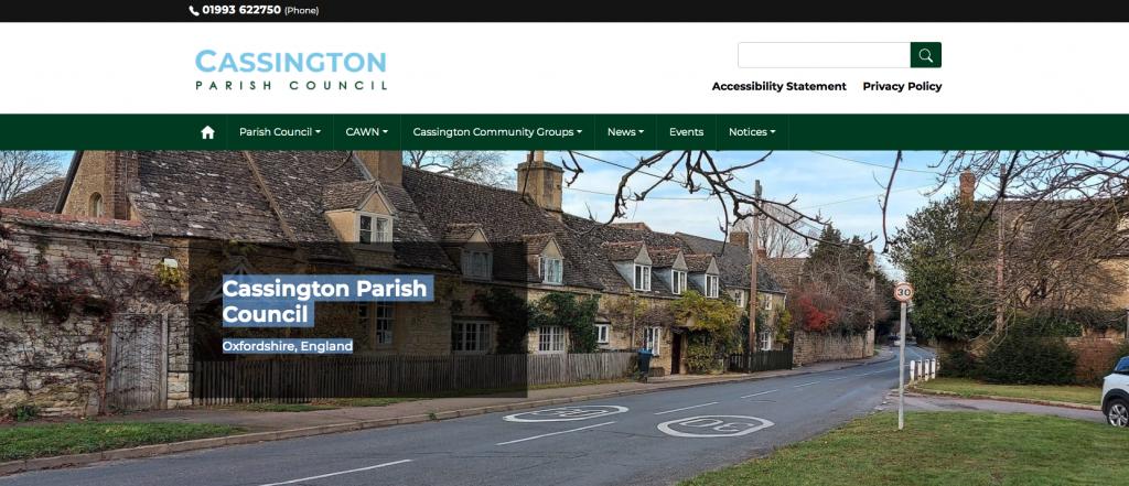 Cassington Parish Council Oxfordshire, England