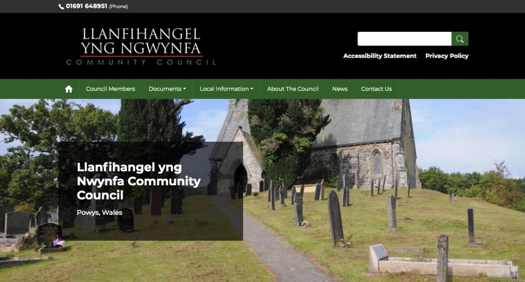 Llanfihangel yng Nwynfa Community Council Powys, Wales