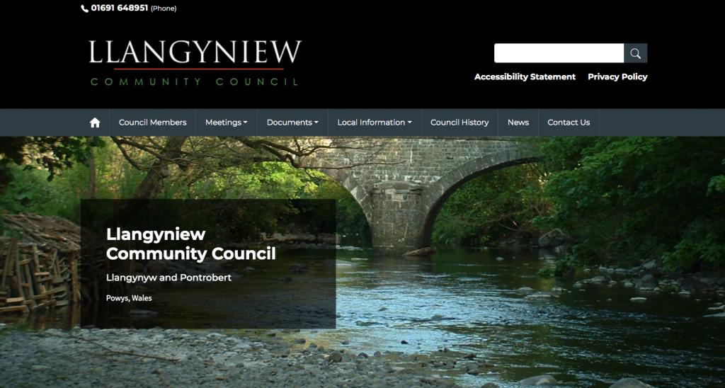 Llangyniew Community Council Llangynyw and Pontrobert Powys, Wales