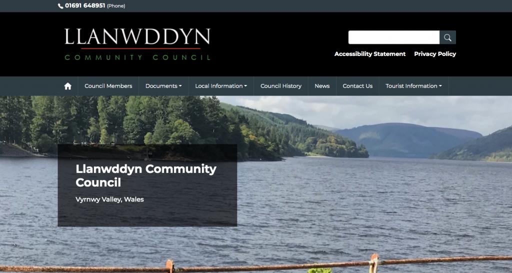 Llanwddyn Community Council Vyrnwy Valley, Wales
