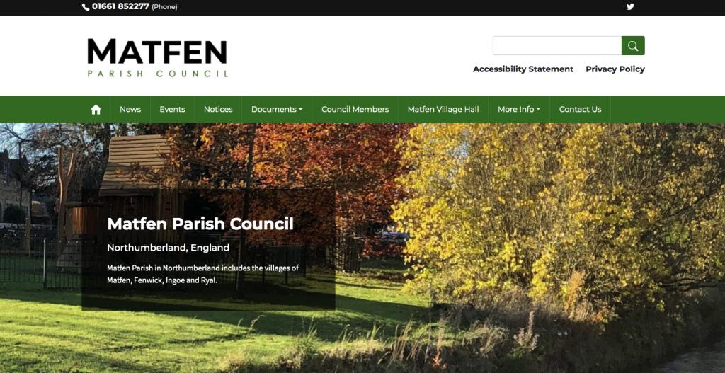 Matfen Parish Council Northumberland